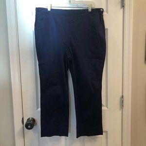 Lauren by Ralph Lauren ankle trousers in navy